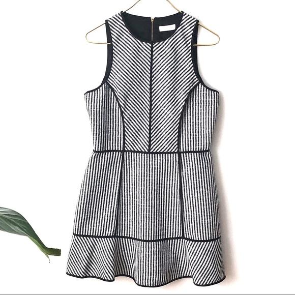 Sass Bide Dresses Sass Bide Textured Fabric Striped Fit And Flare Poshmark